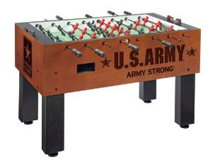 foosball table, engraved