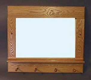 oak entry mirror